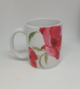 Poppy Design Sublimated Ceramic Mug