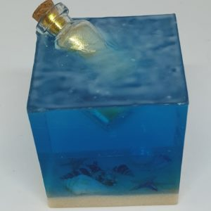 Handmade Message in a Bottle Paperweight