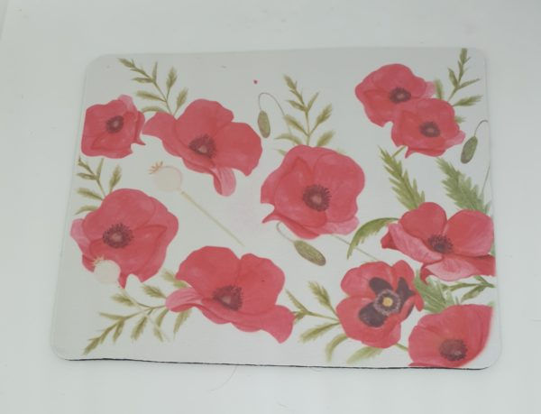 Poppy Design Fabric Rubber Backed Mousemat