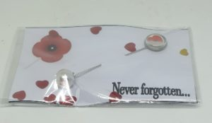 Remembrance Day Poppy Lapel Pin