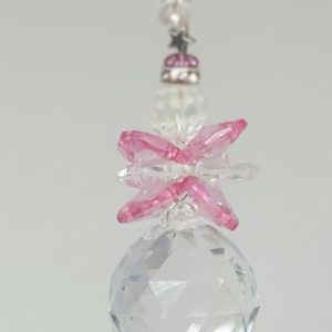 Handmade Pink Fairy Suncatcher With Stars