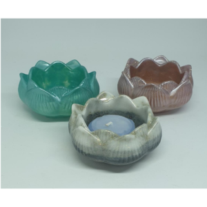 Handmade Pearly Resin Flower Candle Bowls