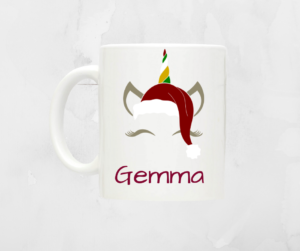 Personalised Christmas Unicorn Mug