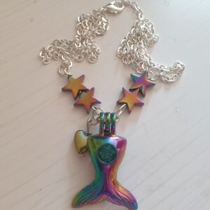 Handmade Starry Mermaid Tail Necklace