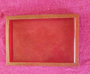 Handmade Resin Red/Gold Deep Tray