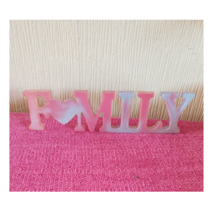 "Handmade Resin ""FAMILY"" Freestanding Word"