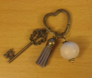 Antique Bronze Heart Fob KeyRing