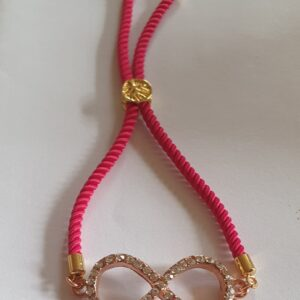 Red Cord Gold Infinity Bracelet